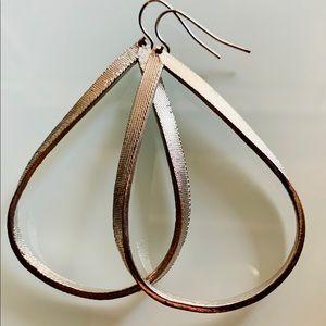 Silver Tinted Dangle Earrings